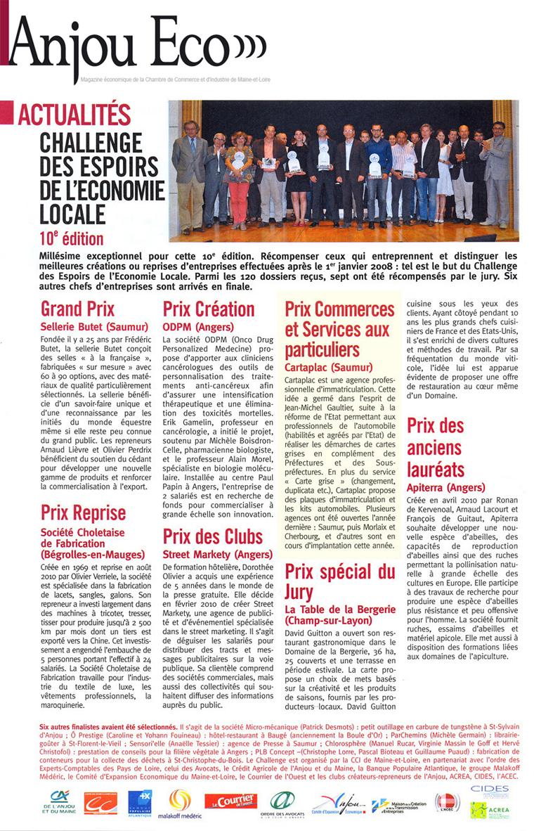 Concours Anjou ECO