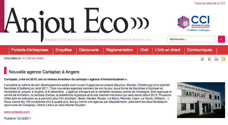 Article Anjou Eco