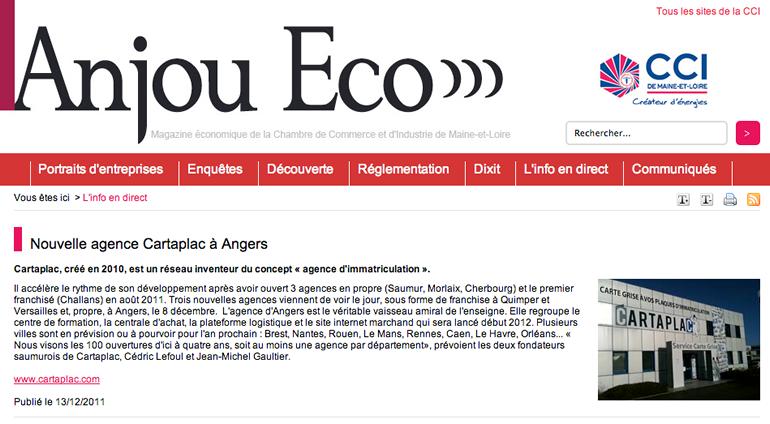 Article Anjou Eco
