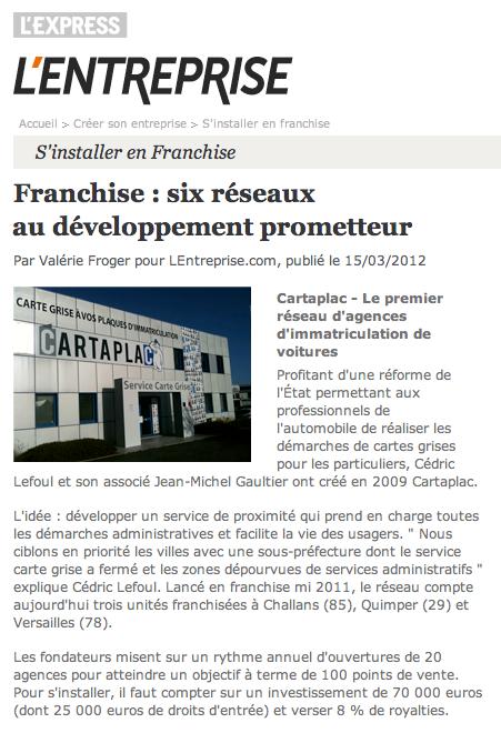 Article L'Entreprise