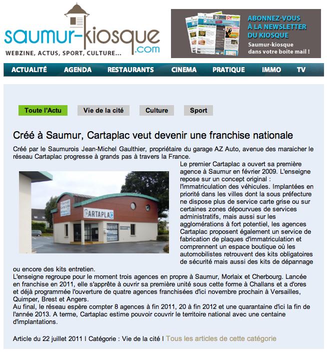 Article Saumur kiosque
