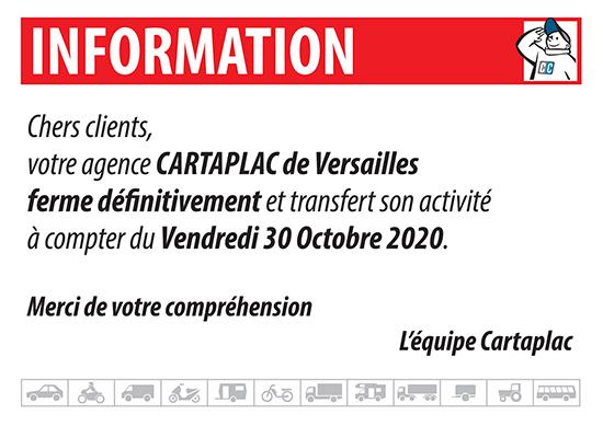 Agence Cartaplac Agence CARTAPLAC Versailles - Agence Automobile d'Immatriculation