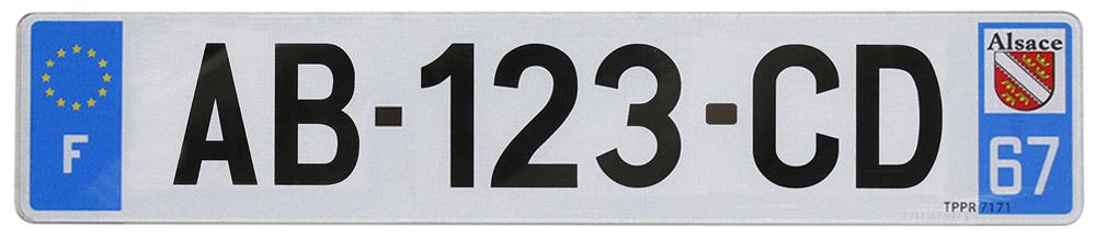 plaque d 39 immatriculation en pvc avec num rotation siv. Black Bedroom Furniture Sets. Home Design Ideas