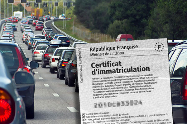 Traffic véhicules immatriculés